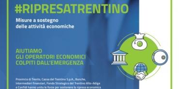 Ripresatrentino, misure a sostegno delle attività economiche per l'emergenza Covid-19