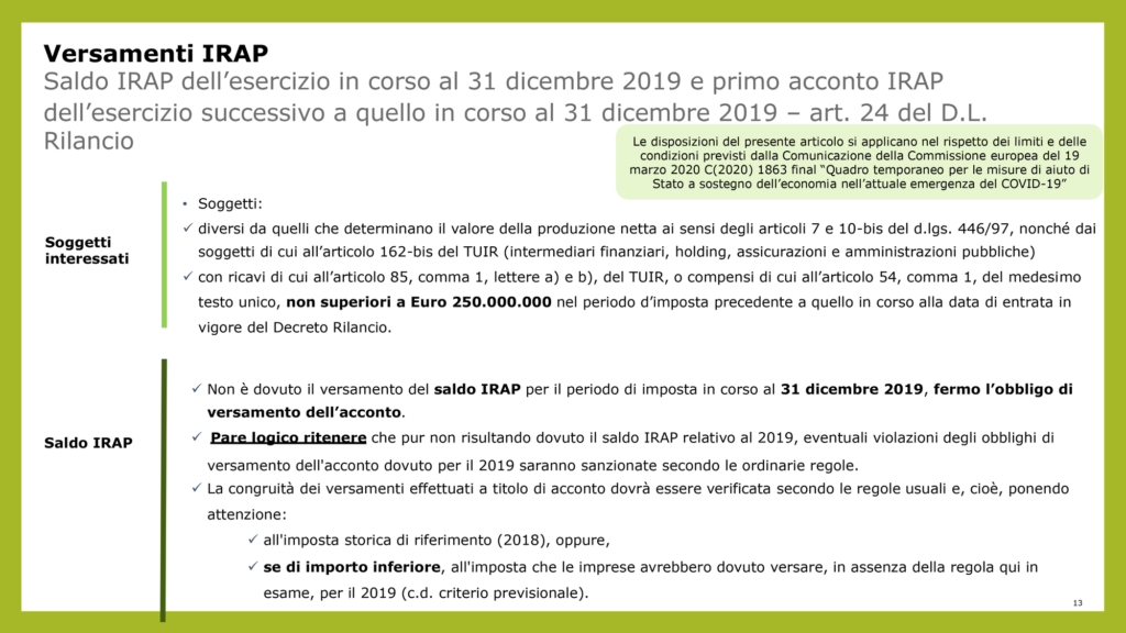 Marco Ginanneschi Sintesi Decreti Covid-19