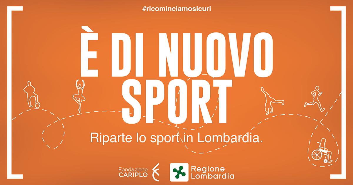"""""""E' di nuovo sport"""", Il Bando della Regione Lombardia per il sostengo allo sport dilettantistico."""