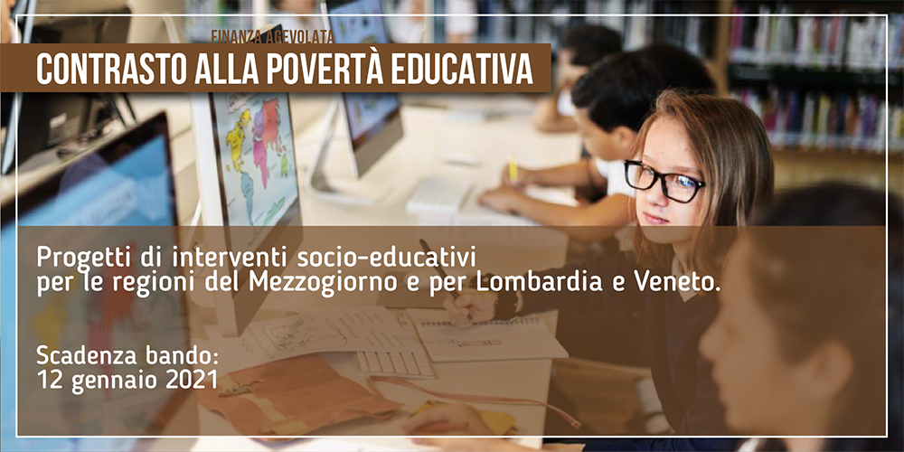 Contrasto alla povertà educativa | Bando da 20 milioni di euro